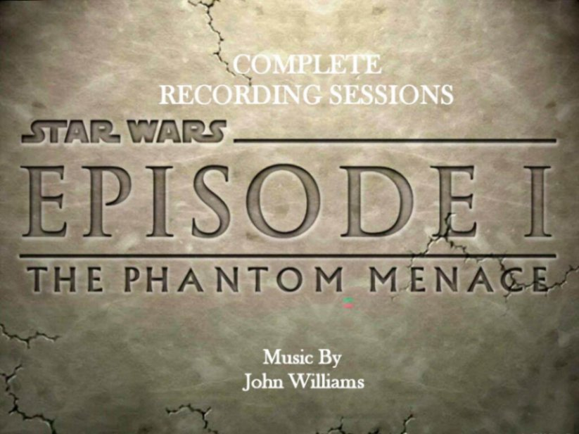 Star Wars The Panthom  Menace Recording Sessions